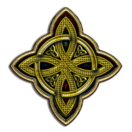 celtico: Croce celtica 4 punti IV bis Vettoriali