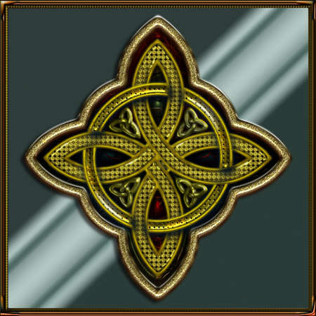 Celtic Cross 4 points IV  Vector
