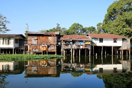 slum: Slum near a river