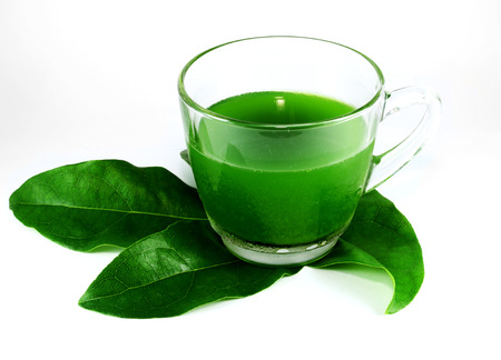 neutralize: Juice from the green leaves