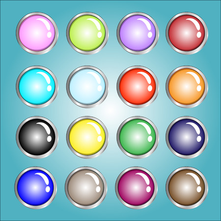 cerulean: 16 color web buttons