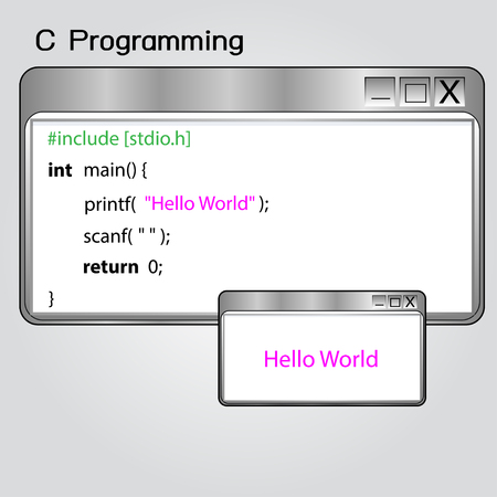 execute: A \Hello, world!\ program is a computer program that outputs \Hello, World!\ Illustration