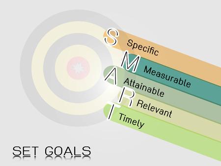 smart objective goal Illustration