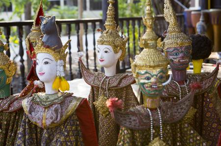 Thai puppet at Samutsongkram Stock Photo