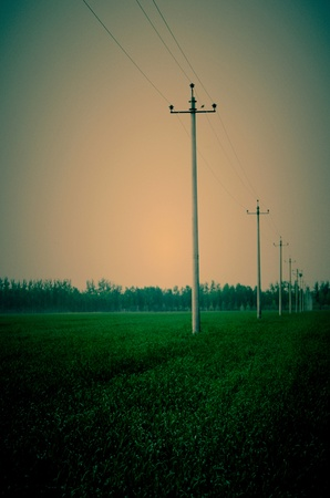 retouched: It s retouched photo that describes a peaceful view in farm field