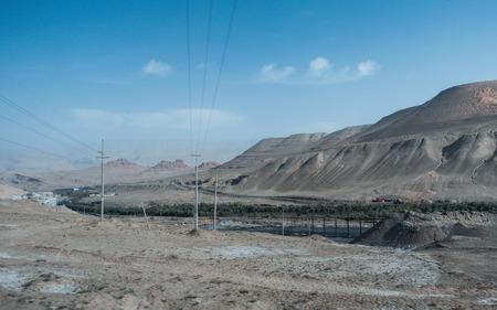 호탄 Distrcit, 중국에서 열린보기와 석탄 광산 캐년