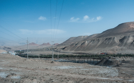 Coal Mine Canyon with open view, in Hotan Distrcit,China