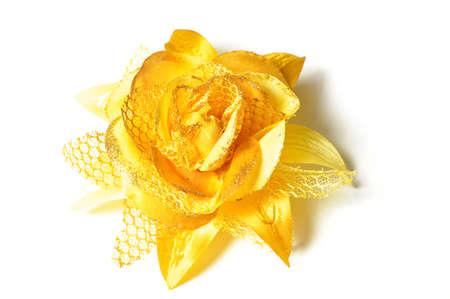 Een bloem haar clip voor vrouwen op witte achtergrond.
