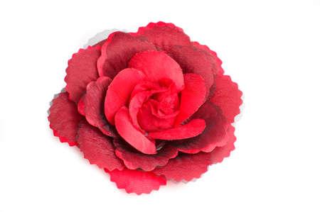 Eine Rote Blume Haar-Clip Für Frauen Auf Weißem Hintergrund Isoliert ...