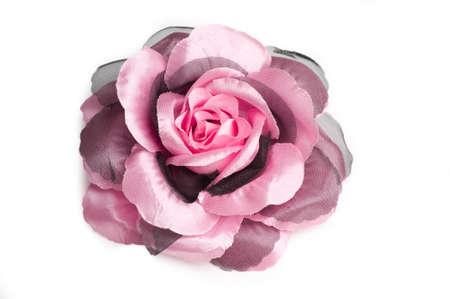 Eine Rosa Blume Haar-Clip Für Frauen Auf Weißem Hintergrund Isoliert ...