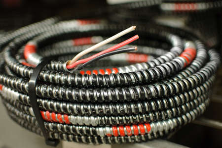 a coil of electrical cable.