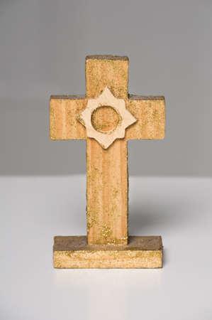 Christian wooden cross on white Stock Photo - 16131967