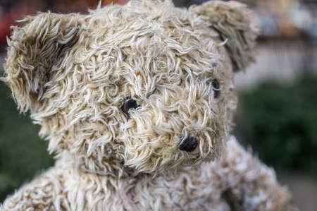 Erg wazig tan teddybeer