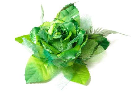 Eine Blume Haar-Clip Für Frauen Auf Weißem Hintergrund Isoliert ...