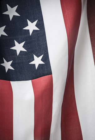 American flag shot by itself on white. Stock Photo - 16131971