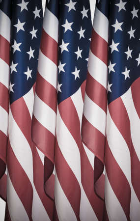 American flag shot by itself on white. Stock Photo - 16131953