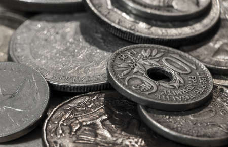 Macro shot of vaus old coins Stock Photo - 17214769
