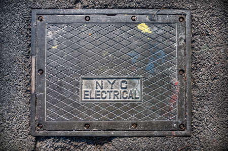 New York City electrical box on the street.
