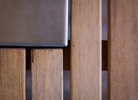 Steel and brown wood abstract background Stock Photo