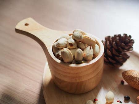 pista: Pistachio nuts in shells Stock Photo