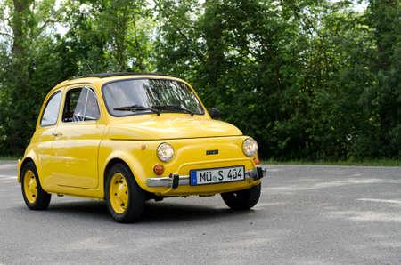 Germany, Maxlrain - June 7, 2012: Fiat 500 at the ADAC (german automobile club) historic rally in Maxlrain, Germany.