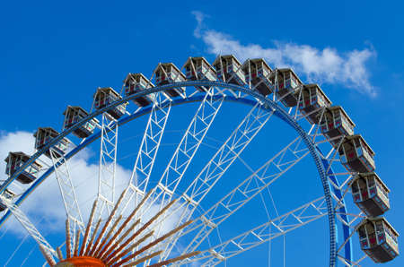 Munich, Germany - September 28, 2012: Big wheel at the Oktoberfest in Munich at a sunny day.
