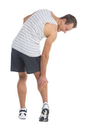 luxacion: Deportista sensaci�n de dolor en la pantorrilla. Si toca la pierna
