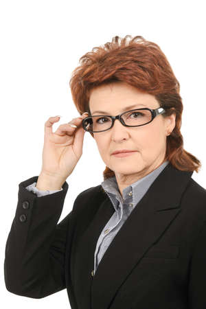 Business woman with glasses looking on the camera photo
