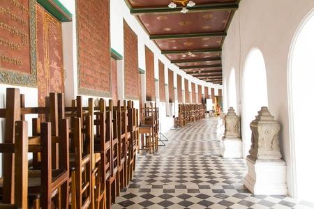 nakhon pathom: Pathway around Phra Pathom Chedi at Nakhon Pathom, Thailand