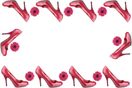 Red woman shoes over white background Stock Photo - 8414742