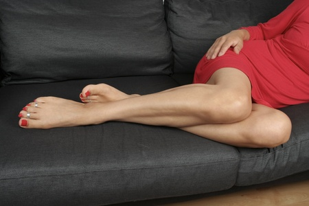 female feet: woman  legs and feet  relaxing