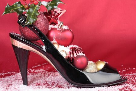 Christmas decorations with heel shoes Stock Photo - 9714732