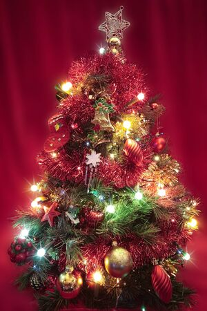 Christmas tree with decorations closeup Stock Photo - 10616636