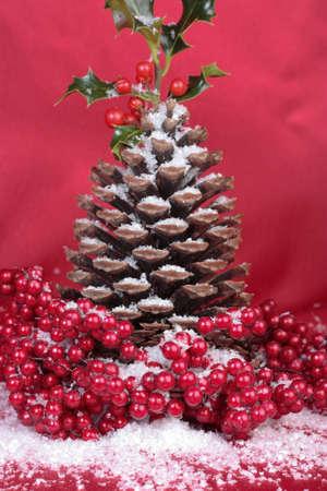 pinecones: Christmas pinecones decorations detail