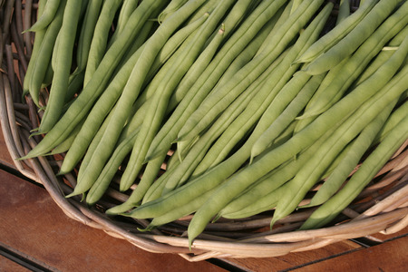 long beans: Bunch of ripe String beans Stock Photo