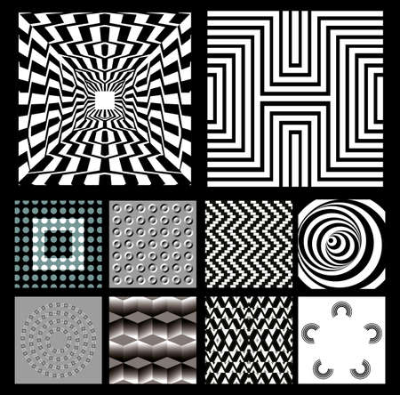 black pattern: background. black-and-white.