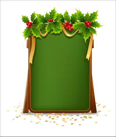 Christmas menu bulletin board Vector