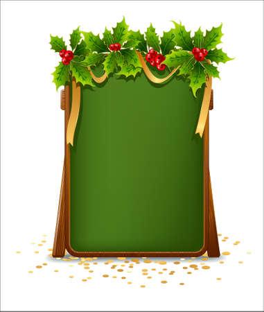 bulletin board: Christmas menu bulletin board