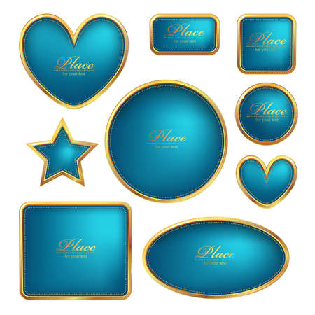 Set of vector luxury golden frames Vector
