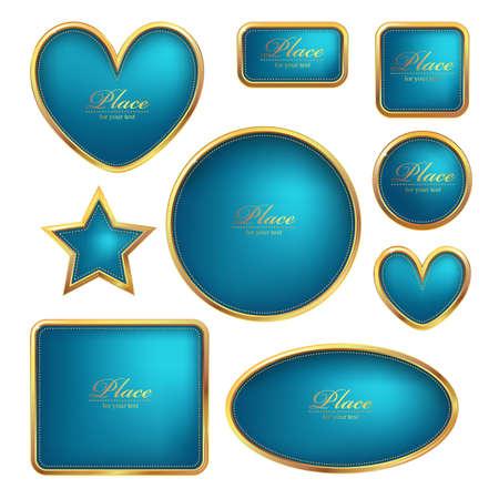 Set of vector luxury golden frames Stock Vector - 12835379