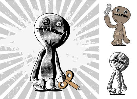 voodoo doll: Cartoon style voodoo doll
