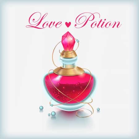 elixir: ilustración de la poción de amor