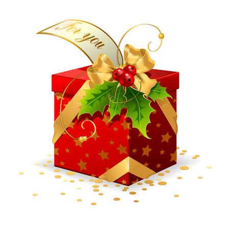 Vector Christmas gift Vector
