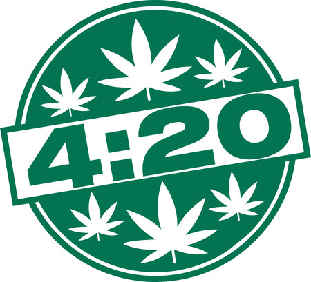 Marijuana 4:20 Cannabis, April 20 Illustration