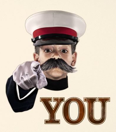 bigote: Tu país los necesita Foto de archivo