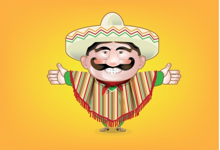 Mexican Food Man Vector