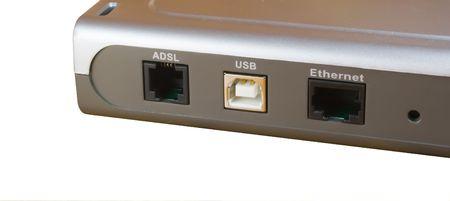 adsl: ADSL Modem isolagted on white  Stock Photo
