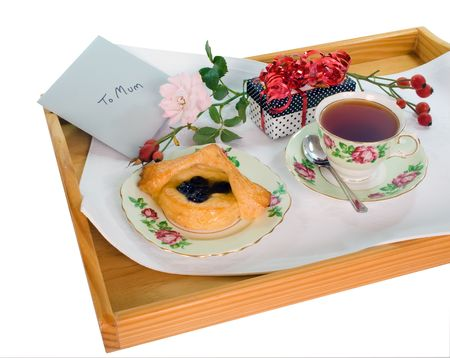 Mothers Day Treat isolated on white with clipping path Stock Photo