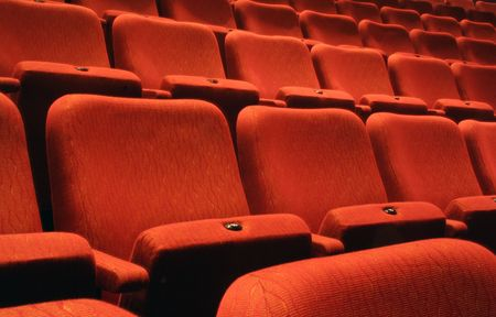 Rows of theatre seats  Stock Photo