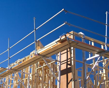 House Frame with Scaffolding